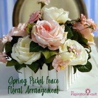 Spring Picket Fence Floral Arrangement Feature