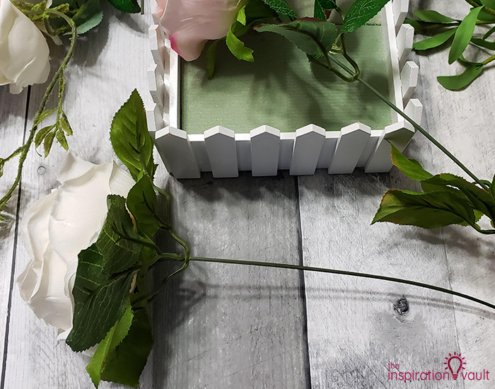 Spring Picket Fence Floral Arrangement Step 2