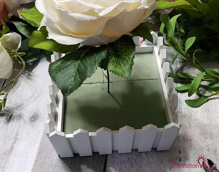 Spring Picket Fence Floral Arrangement Step 4