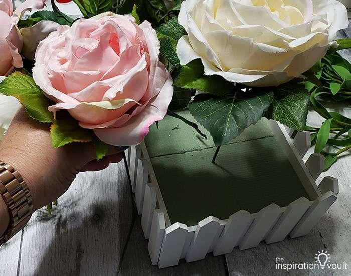 Spring Picket Fence Floral Arrangement Step 5a
