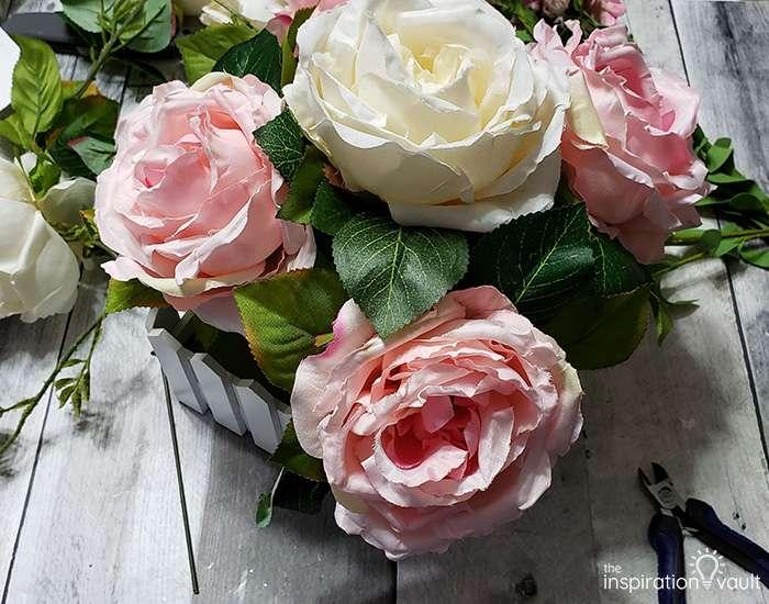 Spring Picket Fence Floral Arrangement Step 5b