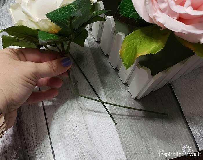 Spring Picket Fence Floral Arrangement Step 6a