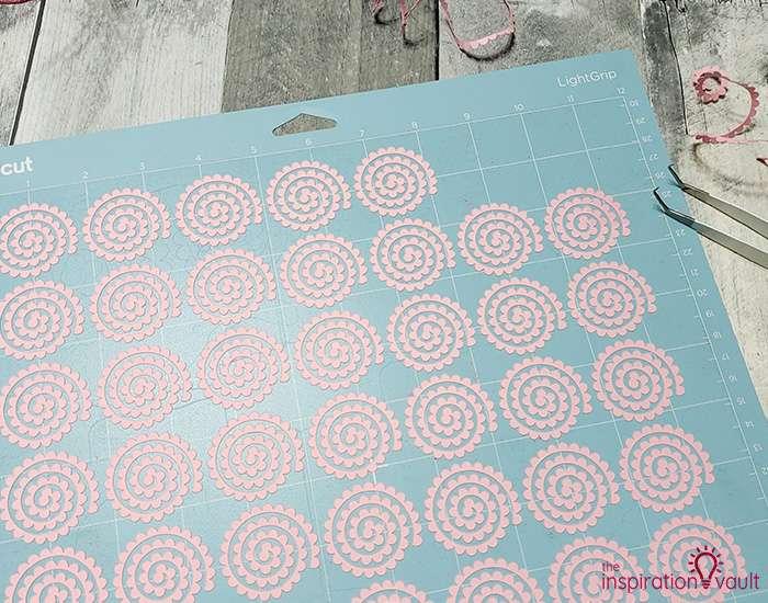 Paper Flower Covered Egg Ornament Step 2b