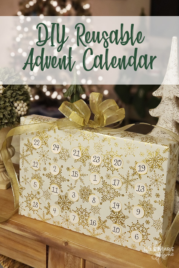 DIY Reusable Advent Calendar Christmas Craft Tutorial