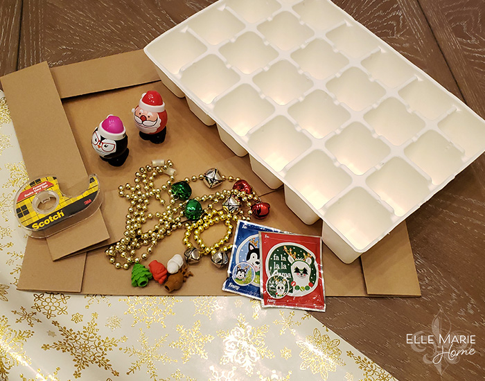 DIY Reusable Advent Calendar Materials
