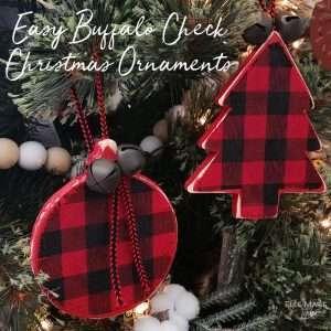 Easy Buffalo Check Christmas Ornaments Feature