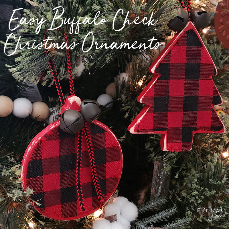 Easy Buffalo Check Christmas Ornaments Feature