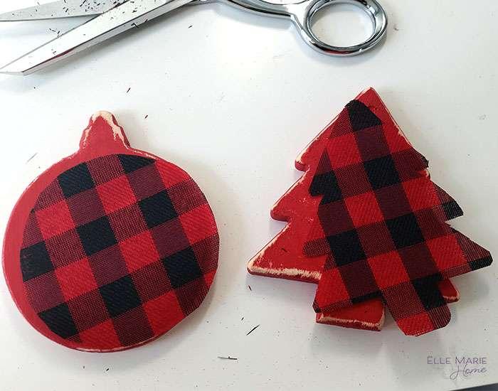 Easy Buffalo Check Christmas Ornaments Step 4