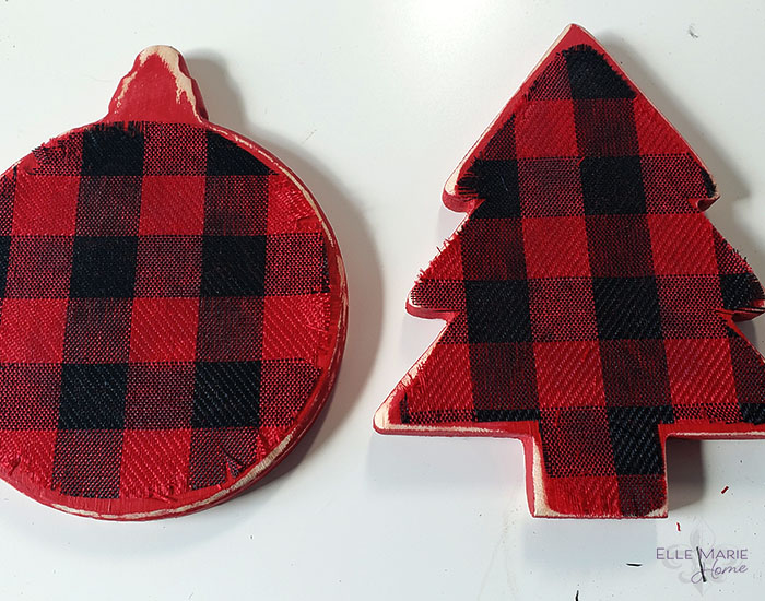 Easy Buffalo Check Christmas Ornaments Step 6