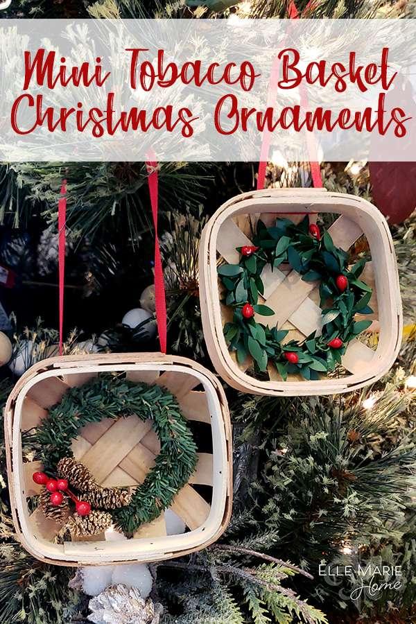 Mini Tobacco Basket Christmas Ornaments DIY Craft Tutorial