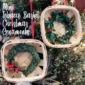 Mini Tobacco Basket Christmas Ornaments Feature