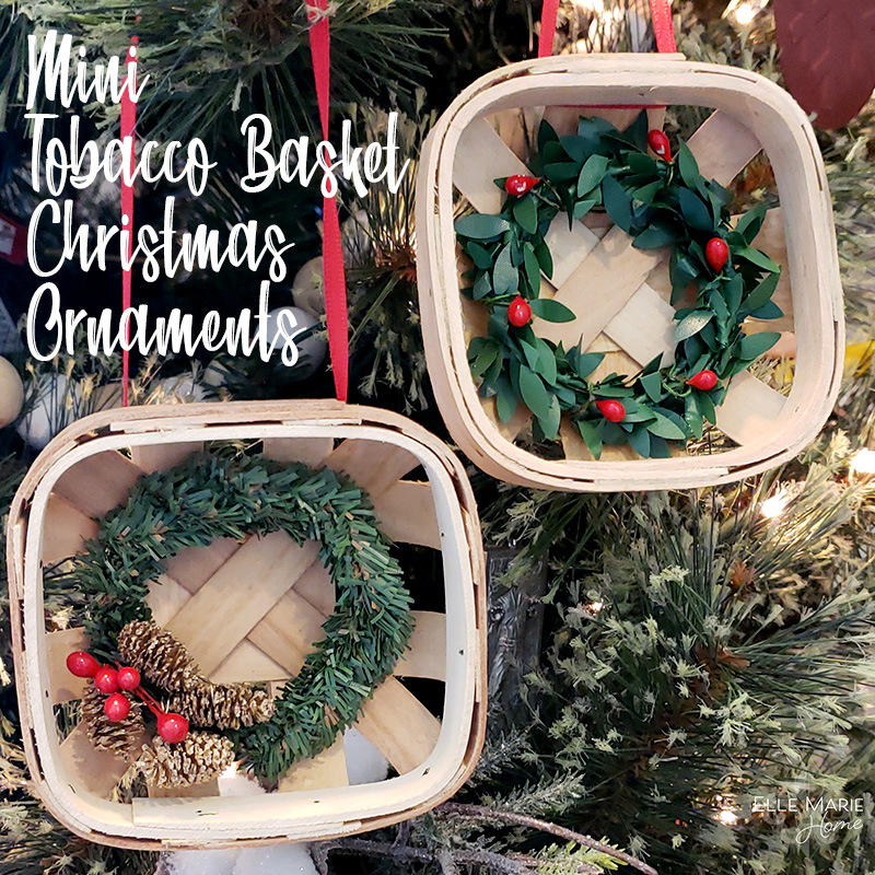 Mini Tobacco Basket Christmas Ornaments Feature