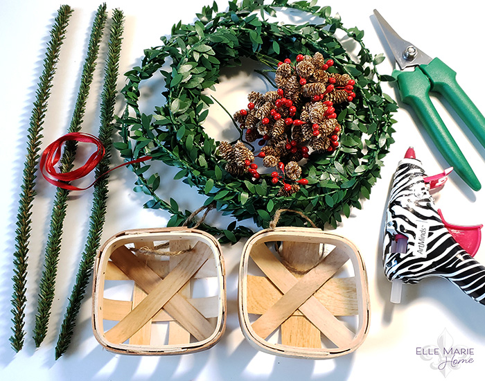 Mini Tobacco Basket Christmas Ornaments Materials