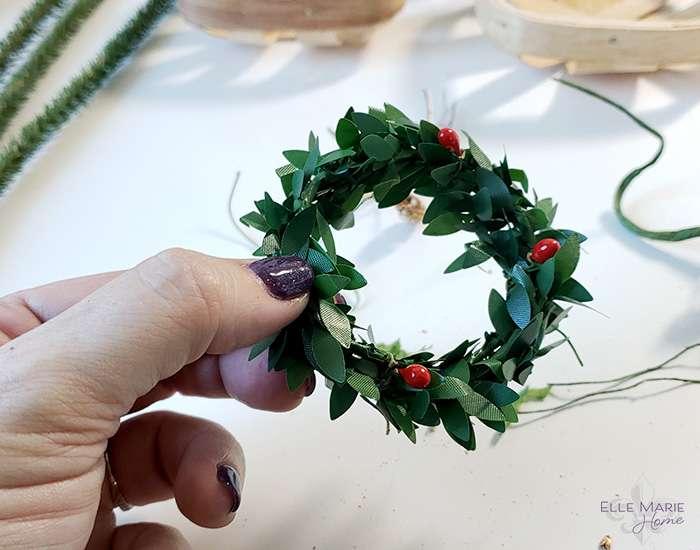 Mini Tobacco Basket Christmas Ornaments Step 2b