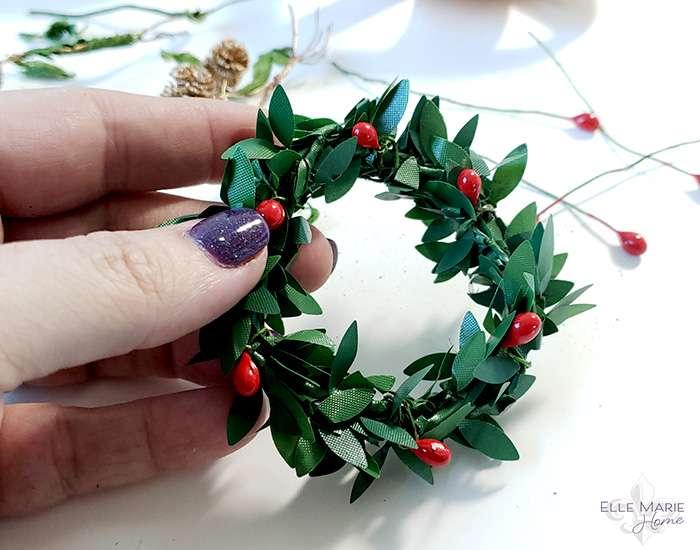 Mini Tobacco Basket Christmas Ornaments Step 2c