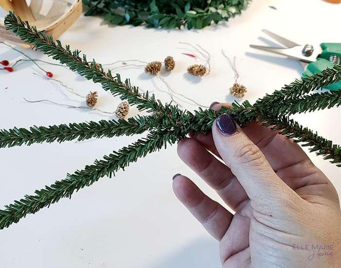 Mini Tobacco Basket Christmas Ornaments Step 3a