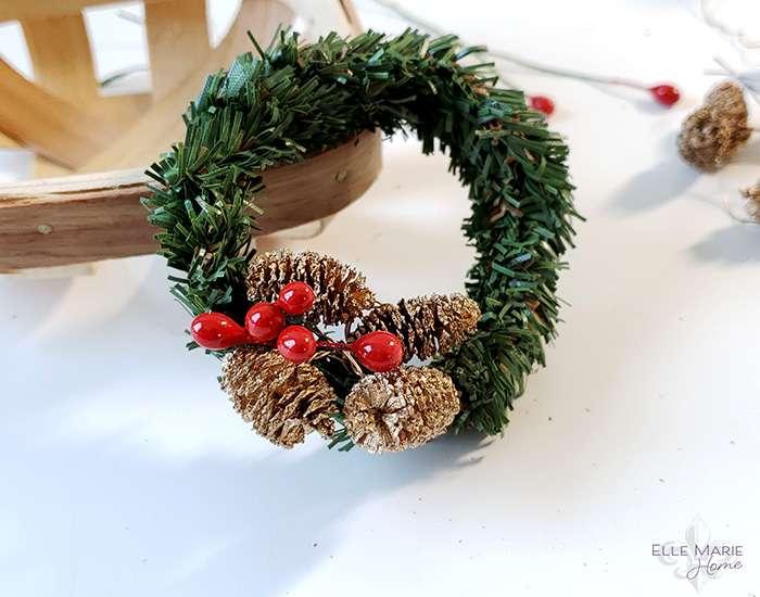 Mini Tobacco Basket Christmas Ornaments Step 4b