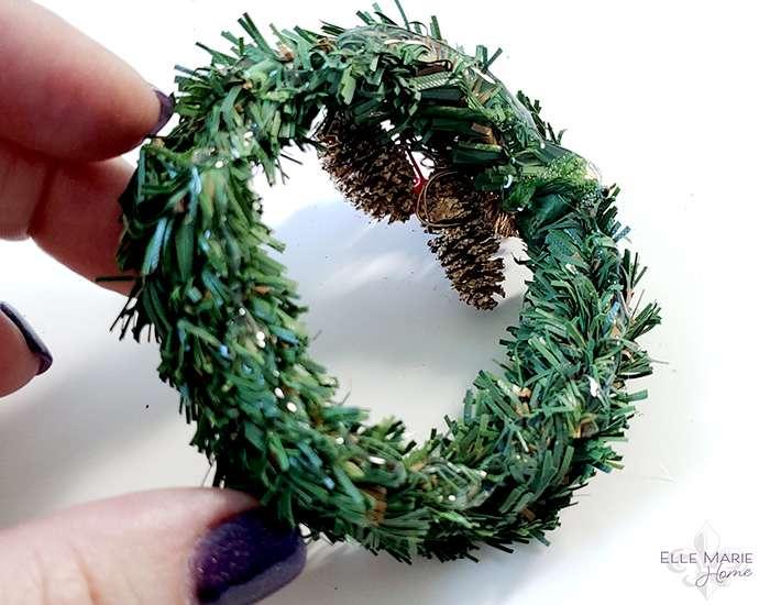 Mini Tobacco Basket Christmas Ornaments Step 5c