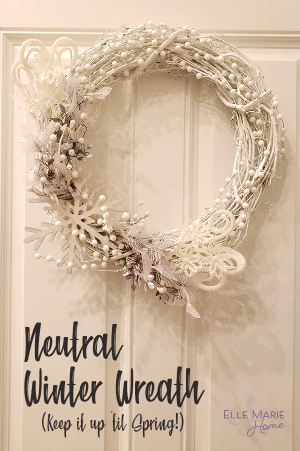 Neutral Winter Wreath DIY Christmas Craft Tutorial
