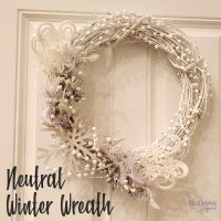 Neutral Winter Wreath Feature