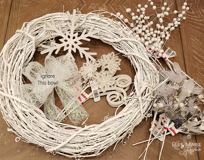 Neutral Winter Wreath Materials
