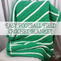 Easy Football Field Crochet Blanket Feature