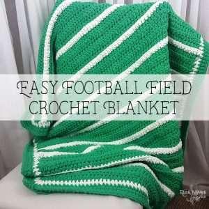 Easy Football Field Crochet Blanket Feature