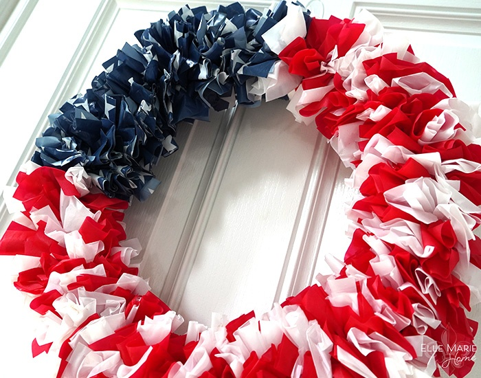 American Flag Wreath Complete