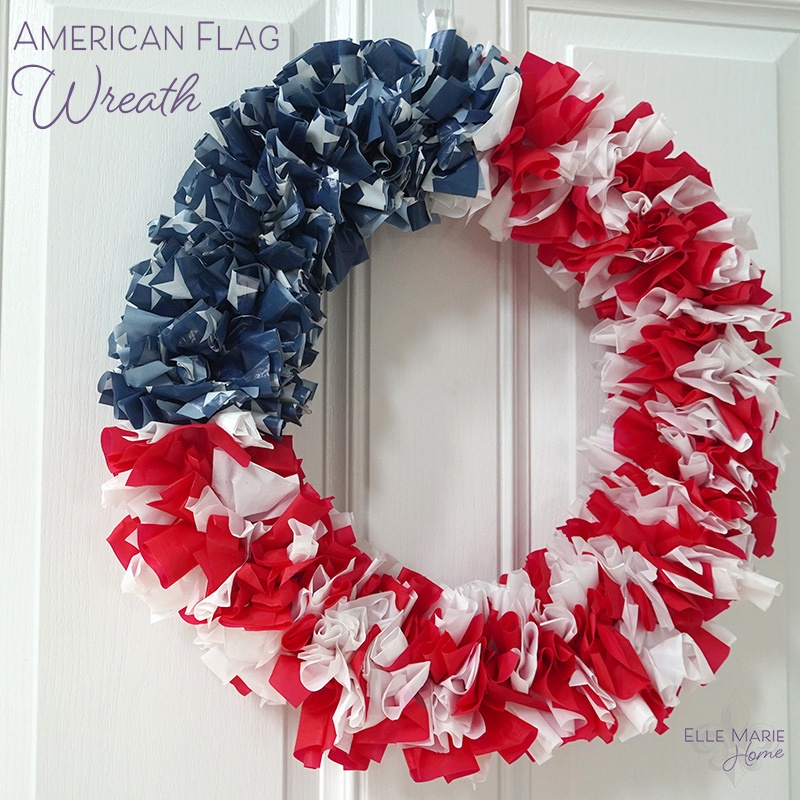 American Flag Wreath Feature
