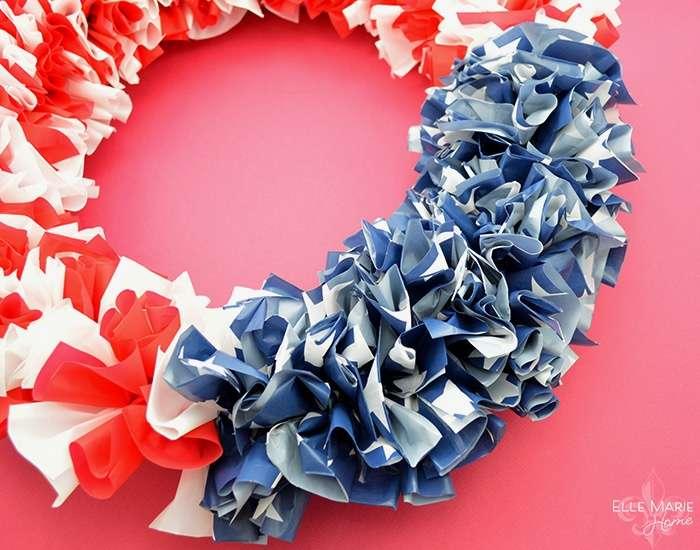 American Flag Wreath Step 10c