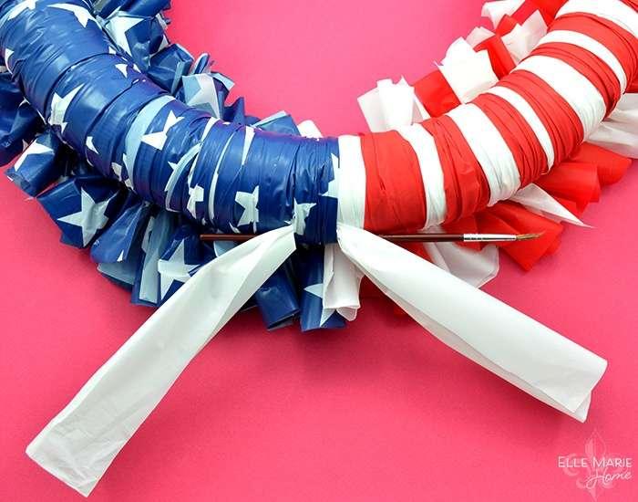 American Flag Wreath Step 11