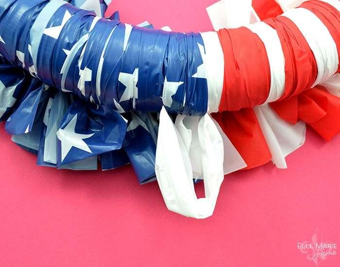 American Flag Wreath Step 12