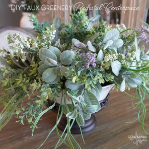 Faux Greenery Pedestal Centerpiece Feature