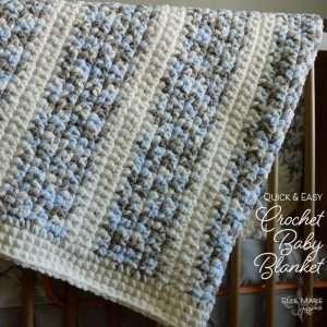 Quick & Easy Crochet Baby Blanket Feature