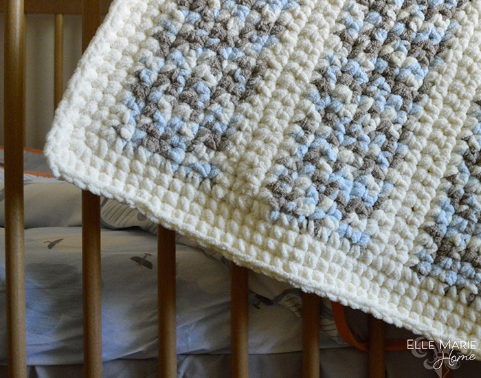 Quick & Easy Crochet Baby Blanket Step 13