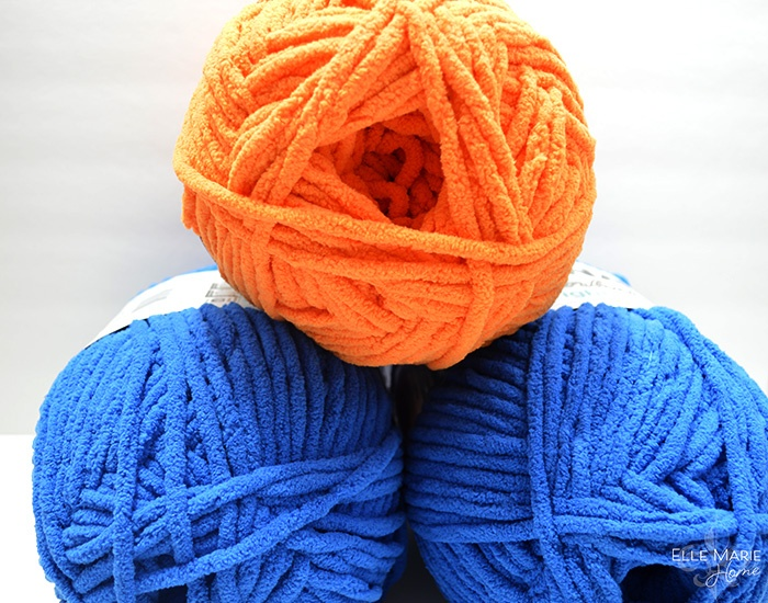 Sporty Color Block Crochet Blanket Materials