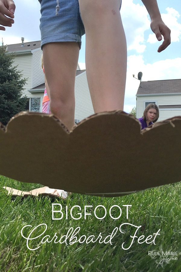 Bigfoot Cardboard Feet DIY Craft Tutorial for Backyard Game or Kids Activity