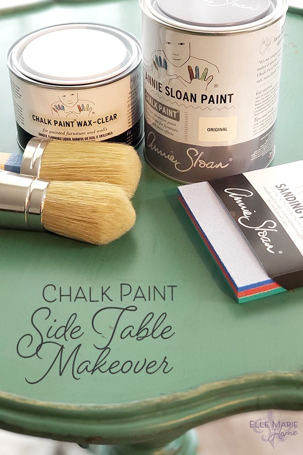 Chalk Paint Side Table Makeover DIY Furniture and Decor Tutorial Using Annie Sloan Chalk Paint 4