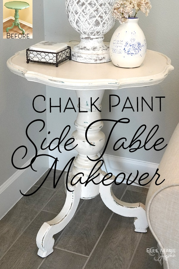 Chalk Paint Side Table Makeover DIY Furniture and Decor Tutorial Using Annie Sloan Chalk Paint