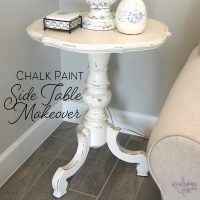 Chalk Paint Side Table Makeover Feature