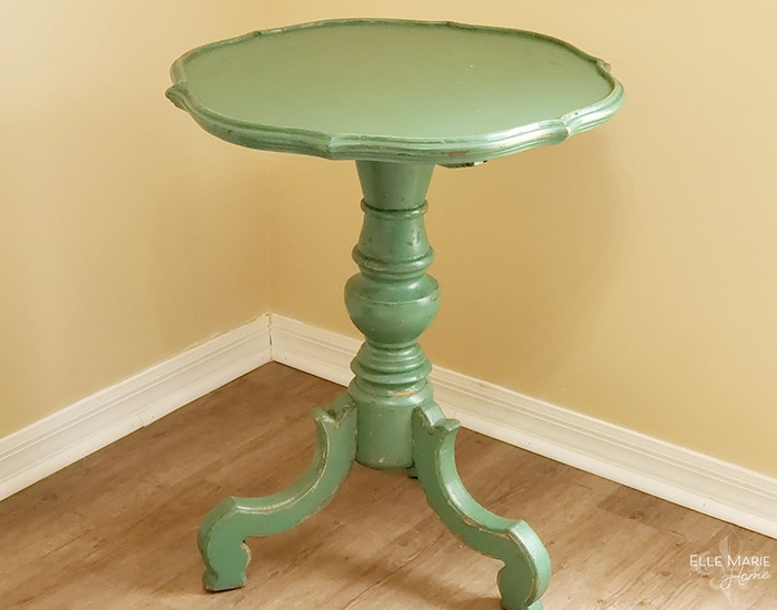 Chalk Paint Side Table Makeover Green Table