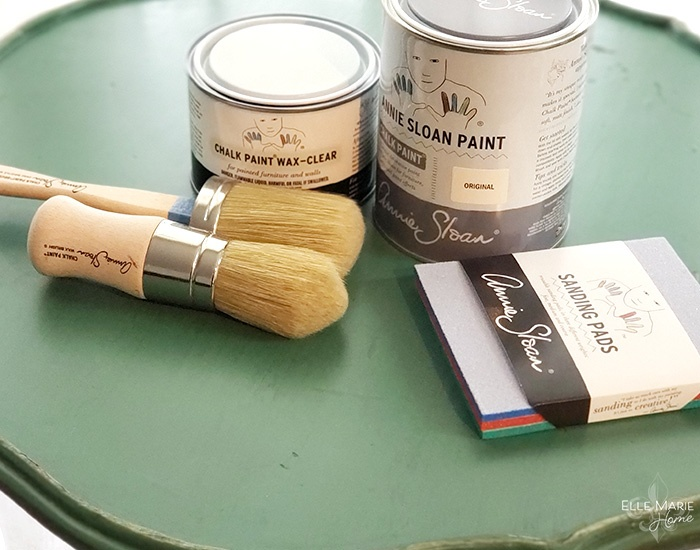 Chalk Paint Side Table Makeover Materials
