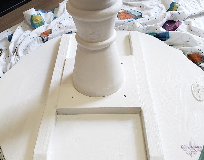 Chalk Paint Side Table Makeover Step 4b