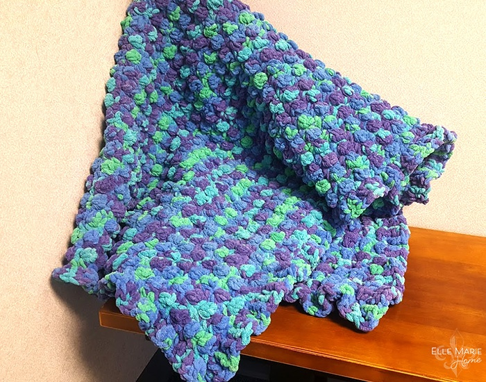 Quick Berry Stitch Crochet Blanket 2