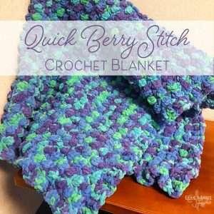 Quick Berry Stitch Crochet Blanket Feature