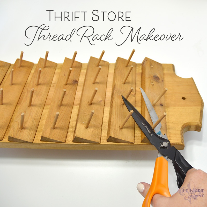 Thrift Store Thread Rack Makeover Feature