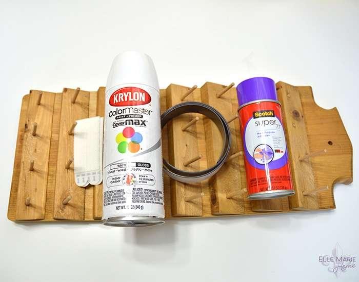 Thrift Store Thread Rack Makeover Materials
