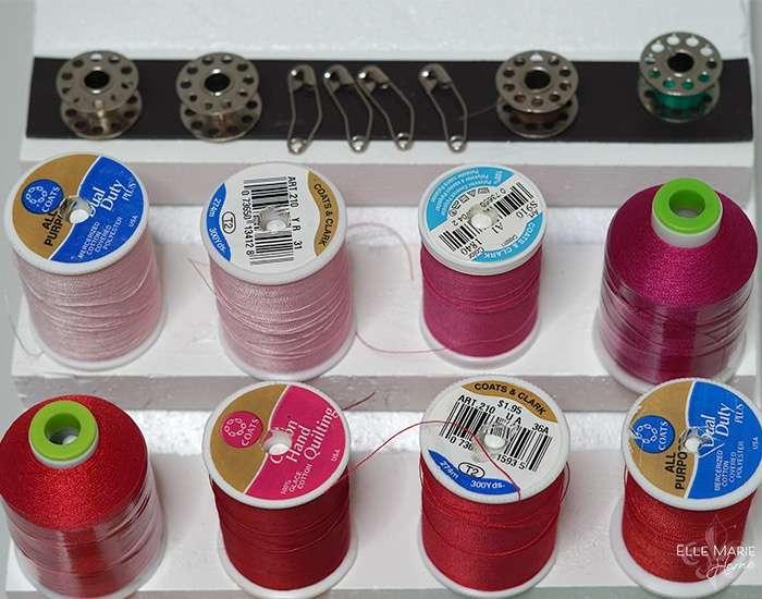 Thrift Store Thread Rack Makeover Step 8