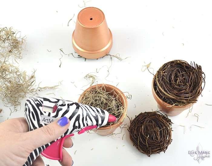 Mini Clay Pot Bird's Nests Step 3b