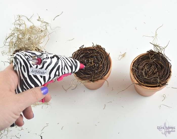 Mini Clay Pot Bird's Nests Step 4a